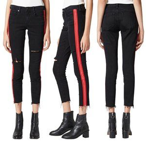 Blank NYC The Bond Side Zip Ripped Skinny Jeans 26